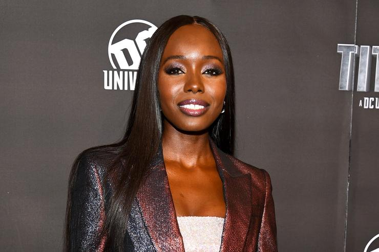 Actress Anna Diop attends DC UNIVERSE's Titans World Premiere on October 3, 2018 in New York City.