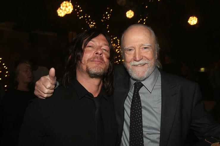 Norman Reedus and Scott Wilson attend The Walking Dead 100th Episode Premiere and Party