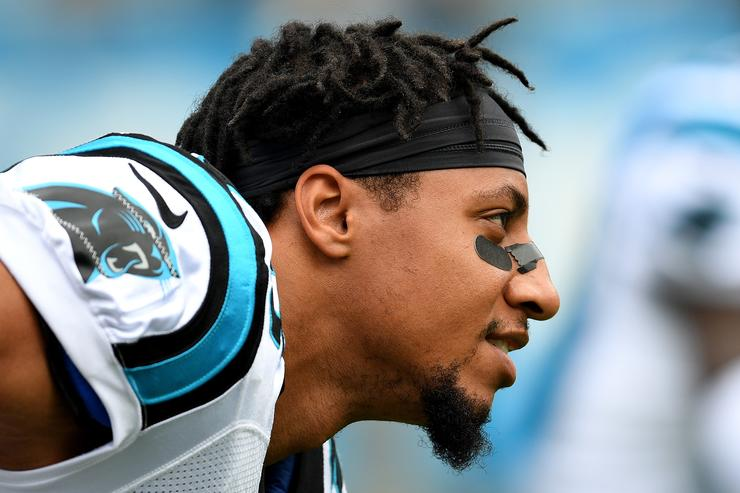 Eric Reid kneeled before his first game with the Panthers