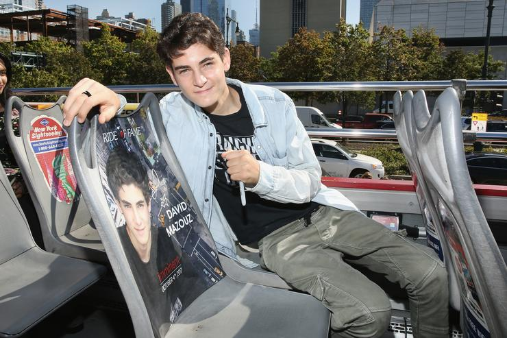 Actor David Mazouz, Gotham's Bruce Wayne, receives his Ride Of Fame Imminent Seat at Pier 78 on October 4, 2017 in New York City.