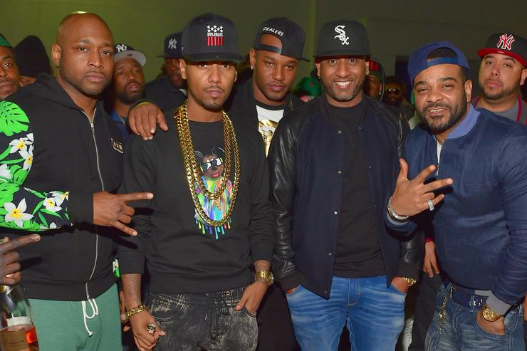 Freekey Zekey, Juelz Santana, Cam'ron, Alex Gidewon and Jim Jones of the group 'The Diplomats' attend the Dipset Official reunion at Compound on March 28, 2015 in Atlanta, Georgia.