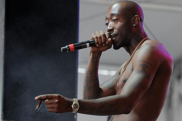 Hip Hop artist Freddie Gibbs performs on stage at the SKYY Vodka Stage At Governors Ball - Day 3 at Randall's Island on June 9, 2013 in New York City