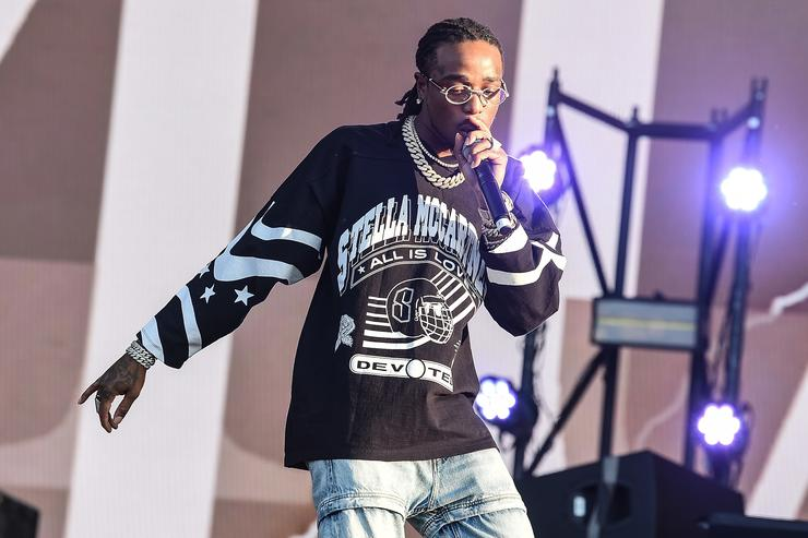 Quavo of Migos performs on the Main Stage during Wireless Festival 2018 at Finsbury Park on July 7, 2018 in London, England.