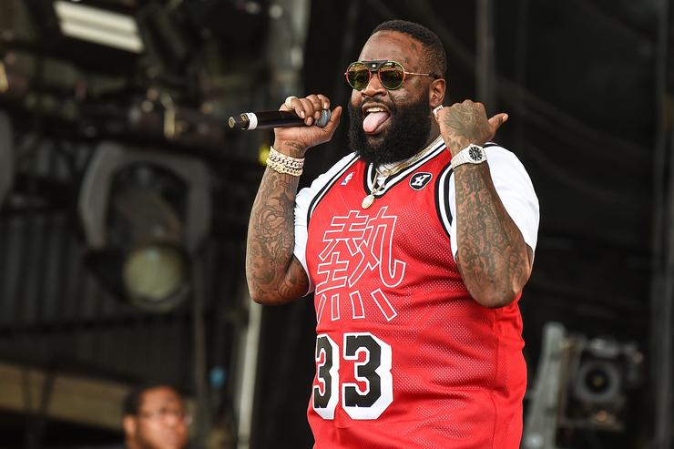 Rick Ross performs on the main stage on Day 3 of Wireless Festival 2018 at Finsbury Park on July 8, 2018 in London, England. (