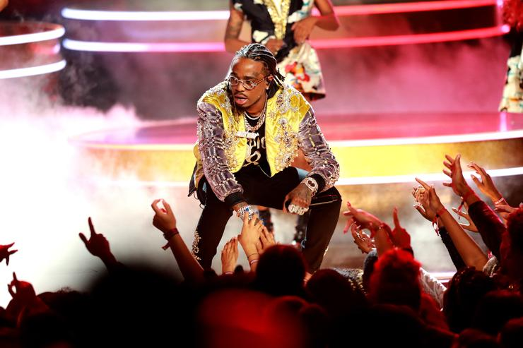 Quavo of Migos performs onstage at the 2018 BET Awards at Microsoft Theater on June 24, 2018 in Los Angeles, California.