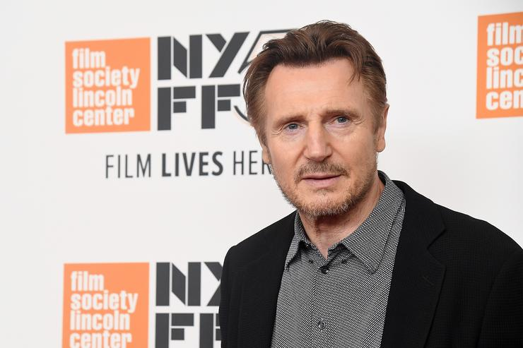 Liam Neeson attends the screening of 'The Ballad of Buster Scruggs' during the 56th New York Film Festival at Alice Tully Hall, Lincoln Center on October 4, 2018 in New York City.
