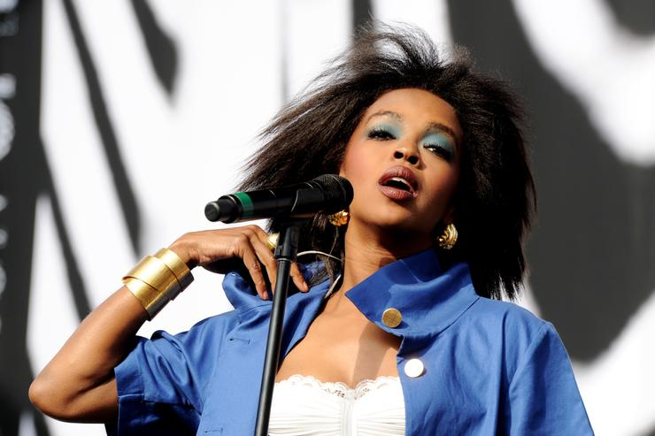 Singer Lauryn Hill performs at L.A. Rising at the L.A. Memorial Coliseum on July 30, 2011 in Los Angeles, California.