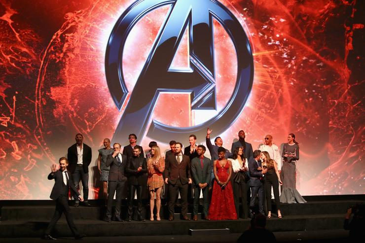 : Cast of 'Avengers: Infinity War' attend the Los Angeles Global Premiere for Marvel Studios' Avengers: Infinity War on April 23, 2018 in Hollywood, California.