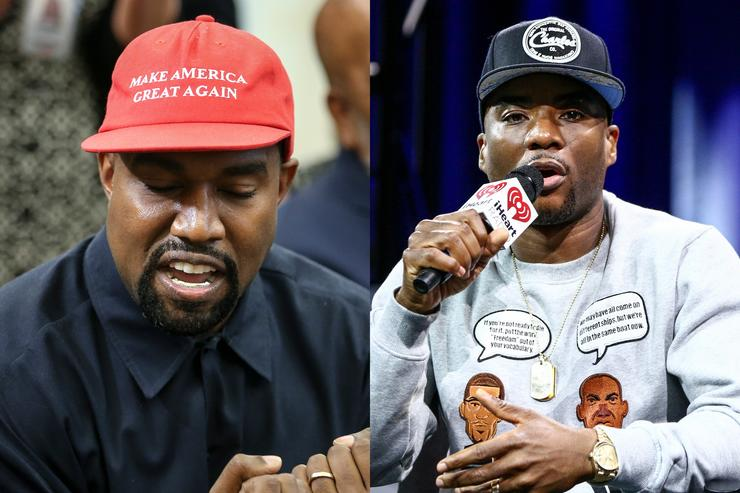 Rapper Kanye West speaks during a meeting with U.S. President Donald Trump in the Oval office of the White House on October 11, 2018 in Washington, DC. Charlamagne Tha God, co-host of The Breakfast Club on New York's Power 105.1, speaks with host Bobby Bones about his book 'Black Privilege: Opportunity Comes to Those Who Create It' on stage at the iHeartRadio Theater in Burbank, California on May 8, 2017.