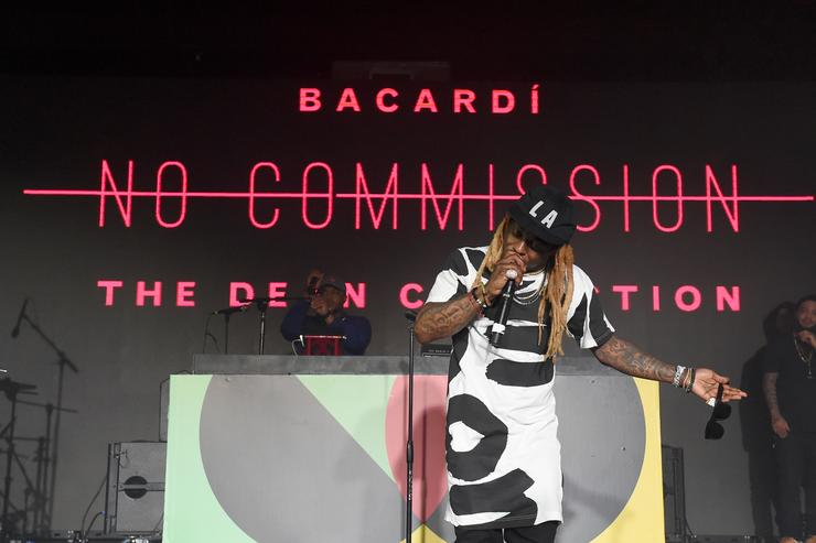 Lil Wayne performs onstage during BACARDI, Swizz Beatz and The Dean Collection bring NO COMMISSION back to Miami to celebrate 'Island Might' at Soho Studios on December 9, 2017 in Miami, Florida