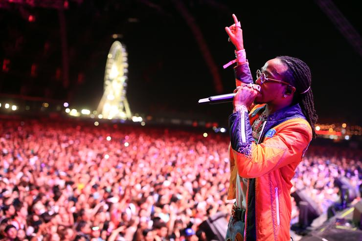 Quavo of Migos performs onstage during the 2018 Coachella Valley Music And Arts Festival at the Empire Polo Field on April 22, 2018 in Indio, California