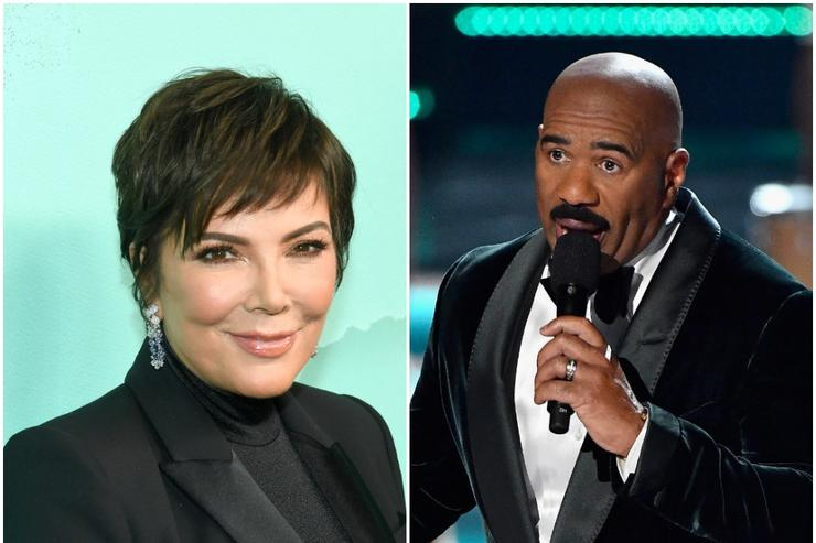 Kris Jenner and Steve Harvey