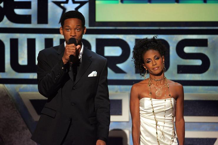 Will and Jada Pinkett Smith perform onstage at the BET Awards 05 at the Kodak Theatre on June 28, 2005 in Hollywood, California