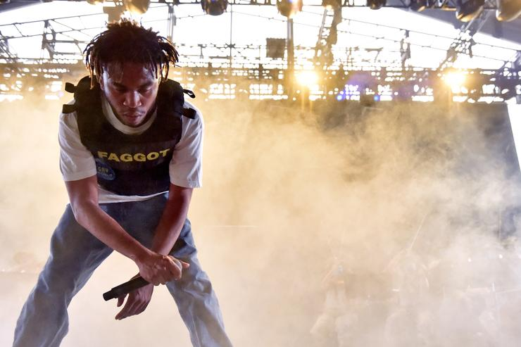 Kevin Abstract of Brockhampton performs onstage during the 2018 Coachella Valley Music And Arts Festival at the Empire Polo Field on April 21, 2018 in Indio, California