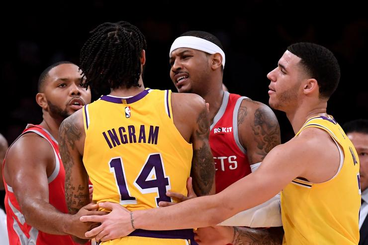 Carmelo Anthony Accidental Spit Theory Emerges In The Aftermath Of Lakers Brawl