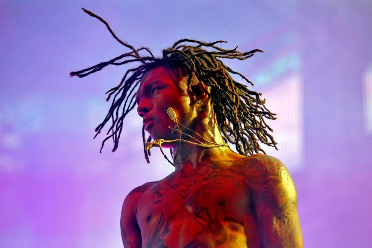 Swae Lee of Rae Sremmurd performs onstage during day 1 of the 2016 Coachella Valley Music & Arts Festival Weekend 2 at the Empire Polo Club on April 22, 2016 in Indio, California