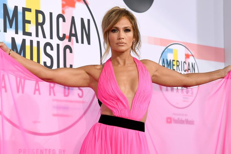 Jennifer Lopez attends the 2018 American Music Awards at Microsoft Theater on October 9, 2018 in Los Angeles, California