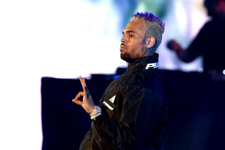 Chris Brown performs onstage during 'We Can Survive, A Radio.com Event' at The Hollywood Bowl on October 20, 2018 in Los Angeles, California.