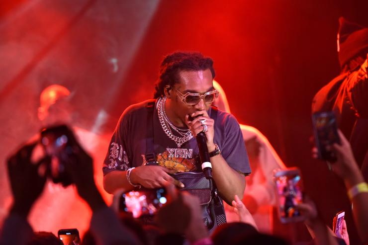 Takeoff of Migos performs at Migos Exclusive World Series Event at the Roxy on October 28, 2018 in Los Angeles, California
