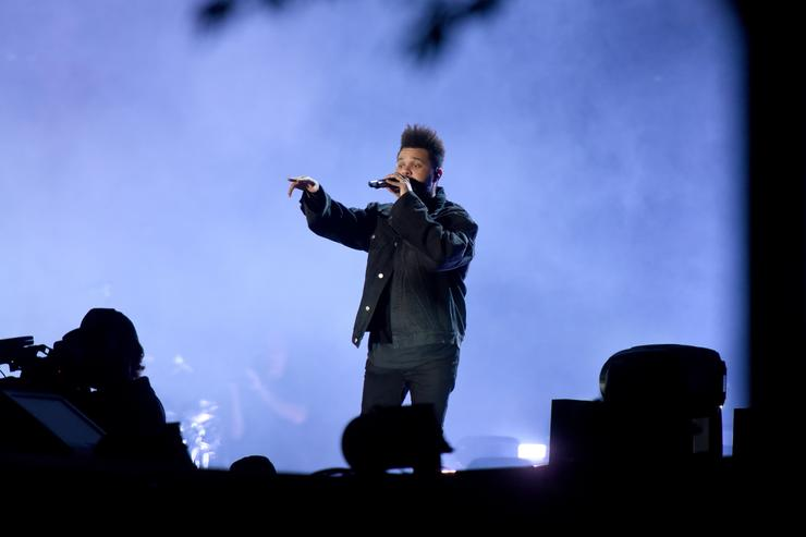 The Weeknd performs onstage during the 2018 Global Citizen Festival: Be The Generation in Central Park on September 29, 2018 in New York City.