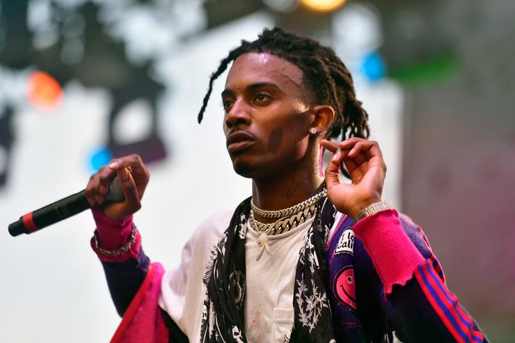 Playboi Carti performs on the Flog Stage during day 2 of Camp Flog Gnaw Carnival 2017 at Exposition Park on October 29, 2017 in Los Angeles, California
