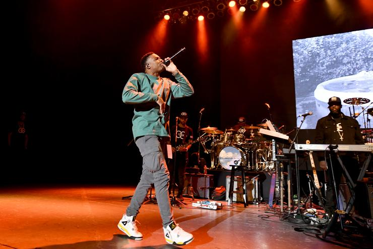Vince Staples performs onstage during 'Mac Miller: A Celebration Of Life' Concert Benefiting The Launch Of The Mac Miller Circles Fund at The Greek Theatre on October 31, 2018 in Los Angeles, California