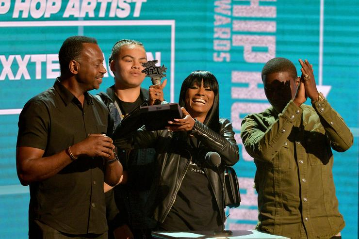 Cleopatra Bernard (XXXTentacion's mother) onstage during the BET Hip Hop Awards 2018 at Fillmore Miami Beach on October 6, 2018 in Miami Beach, Florida