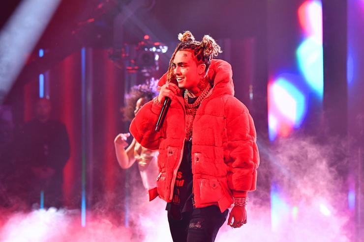 Lil Pump performs onstage during the BET Hip Hop Awards 2018 at Fillmore Miami Beach on October 6, 2018 in Miami Beach, Florida.