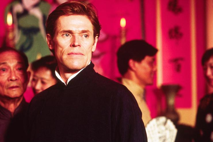Actor Willem Dafoe performs on the set of the film 'Pavilion of Women.'