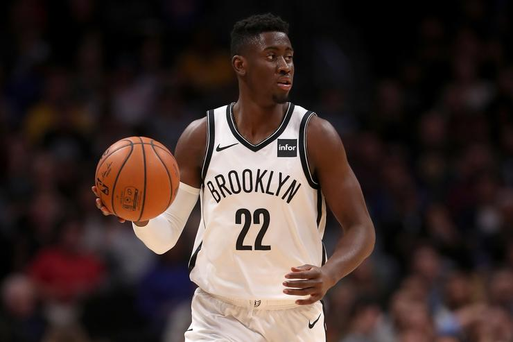 Caris Levert #22 of the Brooklyn Nets plays the Denver Nuggets at the Pepsi Center on November 9, 2018 in Denver, Colorado. NOTE TO USER: User expressly acknowledges and agrees that, by downloading and or using this photograph, User is consenting to the terms and conditions of the Getty Images License Agreement.