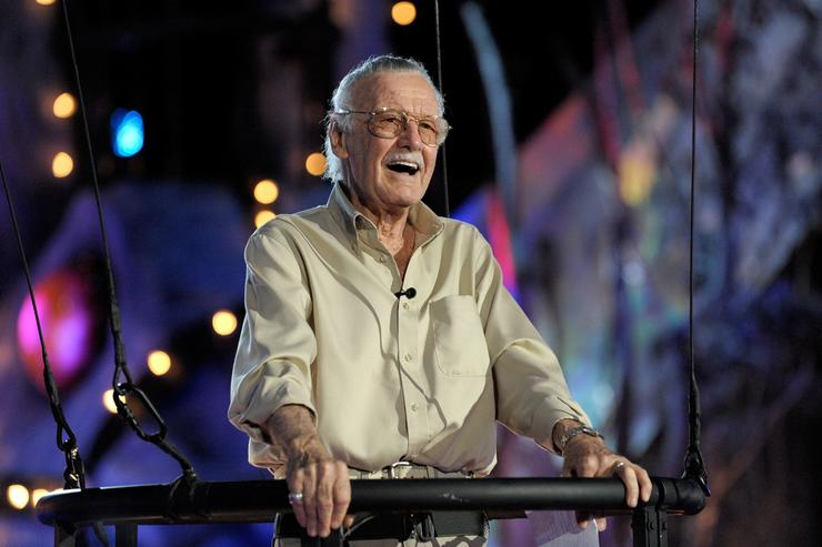 Stan Lee accepts the Comic-Con Icon award onstage during Spike TV's Scream 2009 held at the Greek Theatre on October 17, 2009 in Los Angeles, California