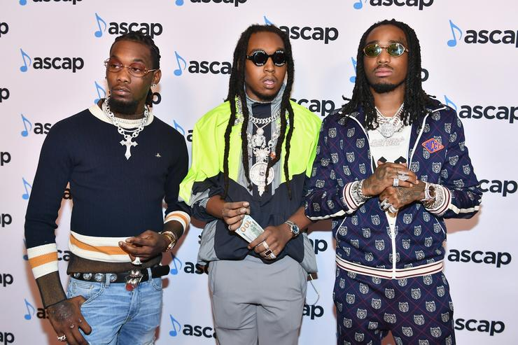 Offset, Takeoff and Quavo of Migos attend the 31st Annual ASCAP Rhythm & Soul Music Awards at the Beverly Wilshire Four Seasons Hotel on June 21, 2018 in Beverly Hills, California.