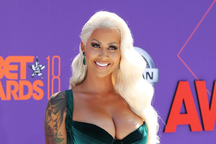 Amber Rose attends the 2018 BET Awards at Microsoft Theater on June 24, 2018 in Los Angeles, California