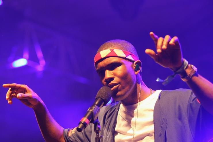 Frank Ocean performs onstage at the 2012 Coachella Valley Music & Arts Festival held at The Empire Polo Field on April 13, 2012 in Indio, California