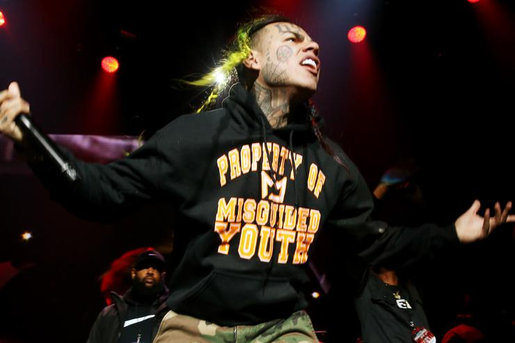 Rapper 6ix9ine performs at Power 105.1's Powerhouse 2018 at Prudential Center on October 28, 2018 in Newark, New Jersey.