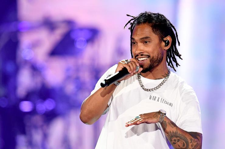 Miguel performs onstage during the 2018 iHeartRadio by AT&T at Banc of California Stadium on June 2, 2018 in Los Angeles, California