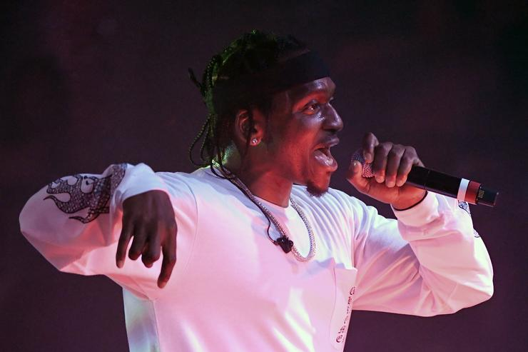 Rapper Pusha T performs during the debut of his residency at Drai's Beach Club - Nightclub at The Cromwell Las Vegas on June 16, 2018 in Las Vegas, Nevada.