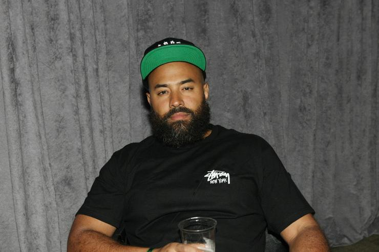 Radio personality Ebro Darden attends the D'USSE VIP Riser + Lounge At On The Run Tour - MetLife Stadium on July 11, 2014 in East Rutherford City.