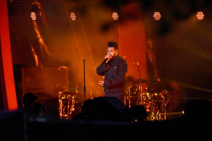 The Weeknd performs onstage during the 2018 Global Citizen Festival: Be The Generation in Central Park on September 29, 2018 in New York City