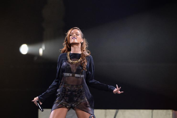 Rihanna performs at Staples Center on April 8, 2013 in Los Angeles, California