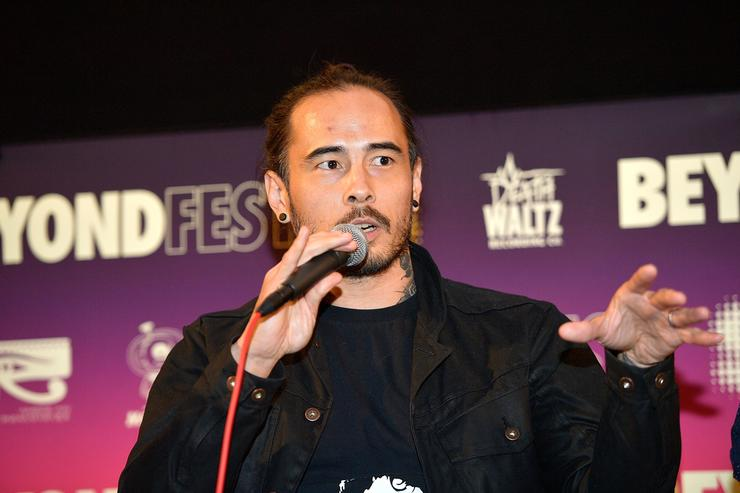 Creator Dave Callaham speaks onstage during the Beyond Fest screening and Cast/Creator panel of Amazon Prime Video's exclusive series 'Jean-Claude Van Johnson' at the Egyptian Theatre on October 9, 2017 in Hollywood, California.