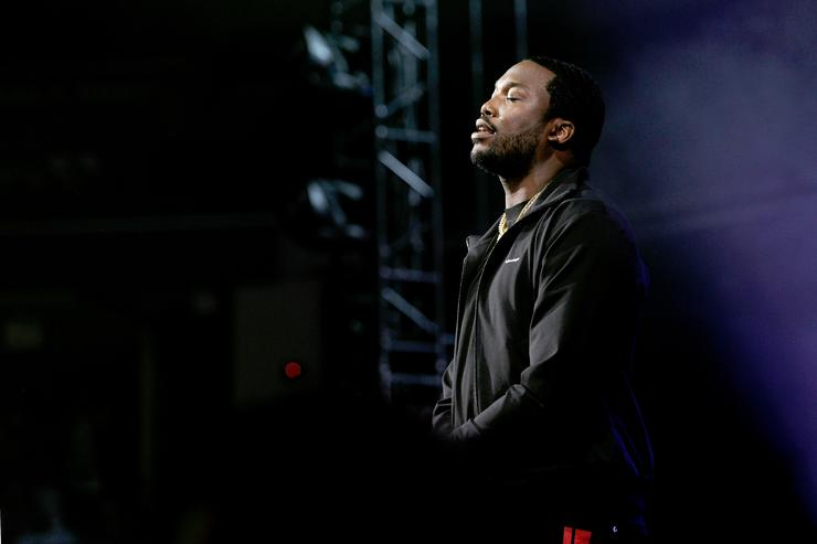 Meek Mill performs onstage during the 6th Yo Gotti Birthday Bash at FedExForum on June 28, 2018 in Memphis, Tennessee.