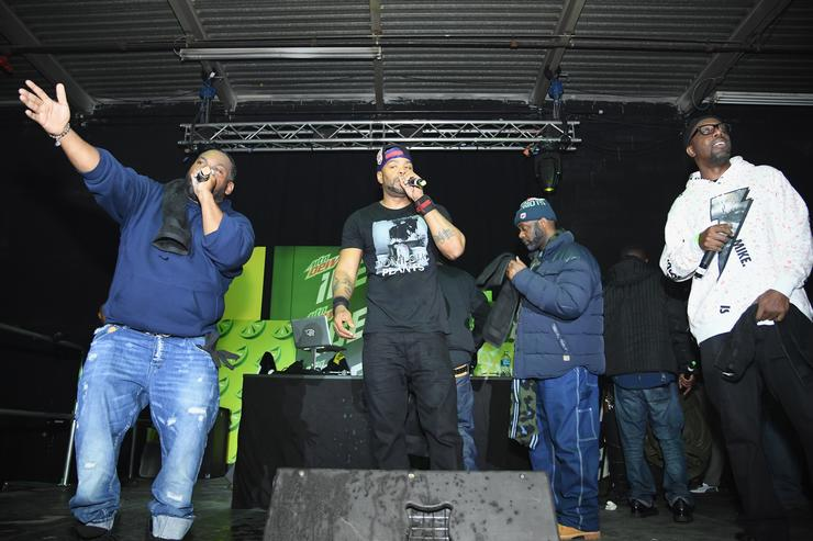 Raekwon, Method Man, Masta Killa and RZA of Wu Tang Clan perform onstage at the Mtn Dew ICE launch event on January 18, 2018 in Brooklyn, New York