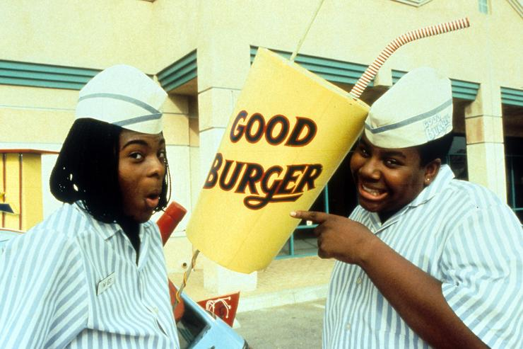 Kel Mitchell and Kenan Thompson publicity portrait for the film 'Good Burger', 1997.