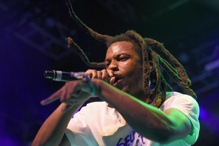 Denzel Curry performs at the Gobi Tent during day 1 of the 2017 Coachella Valley Music & Arts Festival (Weekend 2) at the Empire Polo Club on April 21, 2017 in Indio, California
