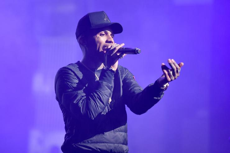 Kid Ink performs onstage at the World Premiere Of 'UNBANNED: THE LEGEND OF AJ1' during Tribeca Film Festival at the Beacon Theatre on April 27, 2018 in New York City