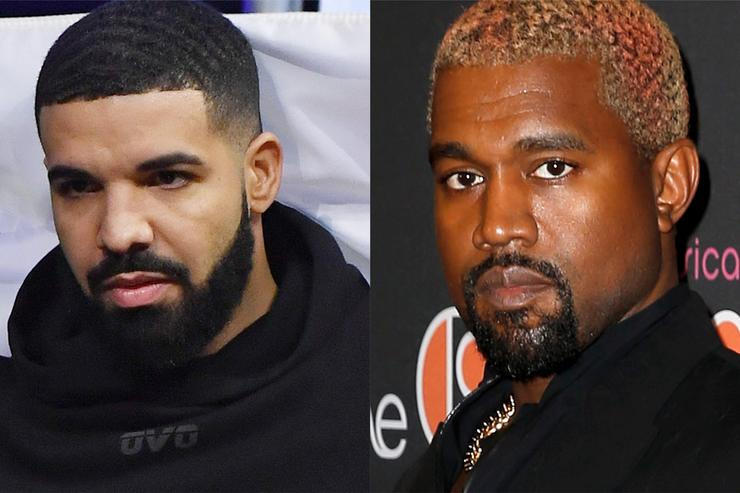 Drake and Kanye West beefing