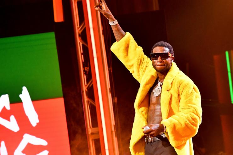 Gucci Mane performs onstage during the BET Hip Hop Awards 2018 at Fillmore Miami Beach on October 6, 2018 in Miami Beach, Florida