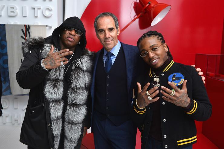 Co-Founder of Cash Money Records and rapper Birdman, Republic Records co-founders Monte Lipman, and rapper Jacquees attend Republic Records Celebrates the GRAMMY Awards in Partnership with Cadillac, Ciroc and Barclays Center at Cadillac House on January 26, 2018 in New York City.