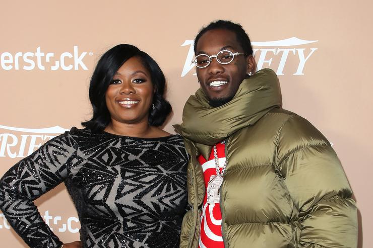 Offset and mother Latabia Woodward attend Variety's 2nd Annual Hitmakers Brunch at Sunset Tower on December 01, 2018 in Los Angeles, California